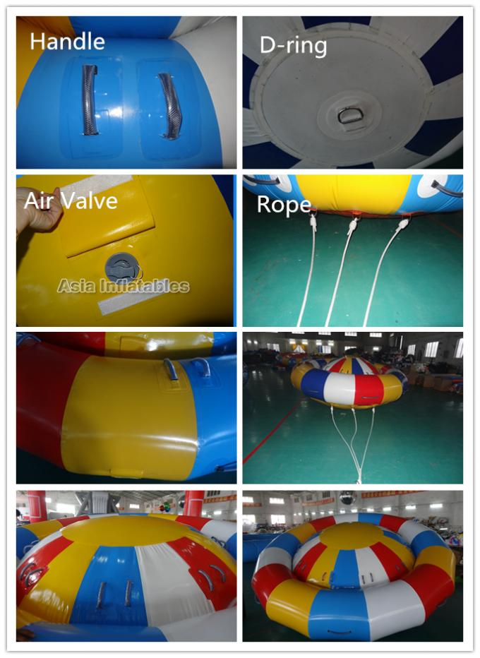 8 Person Towing Tube Disco Boat Inflatable Water Rocker Saturn for Seashore